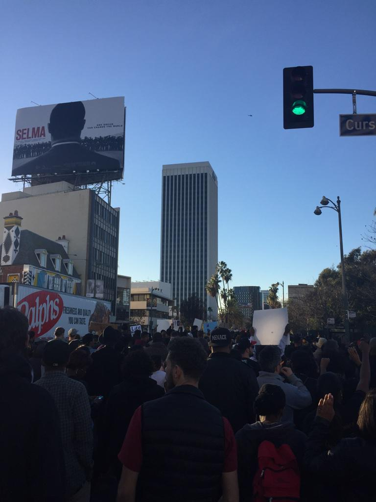 Picture of Selma Billbaord and MillionsMarchLA